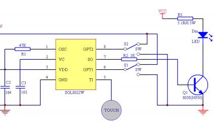 LED灯光控制触摸芯片SGL8022W的数据手册免费下载
