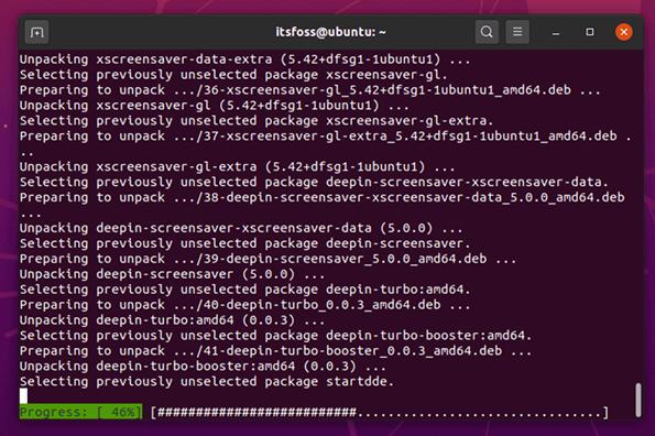 操作系统教程讲解:在Ubuntu上安装/移除深度(Deepin)桌面环境