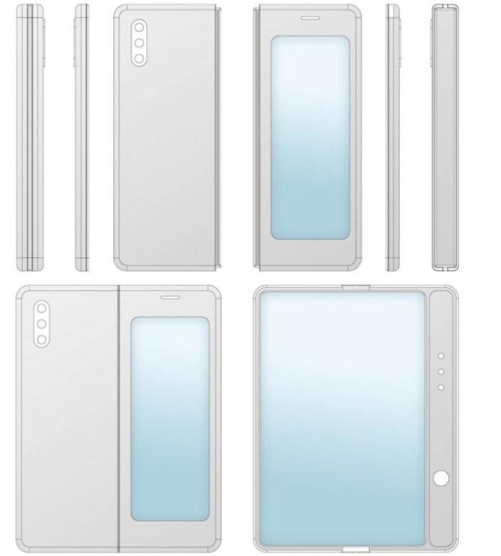 小米折叠屏新机的专利设计曝光,或将明年年初发布