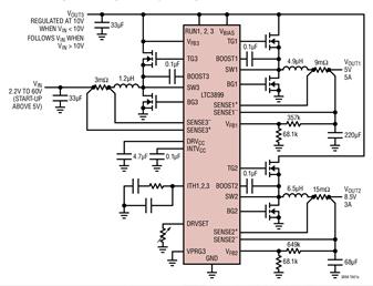 Linear同步DC/DC控制器LTC3899的...