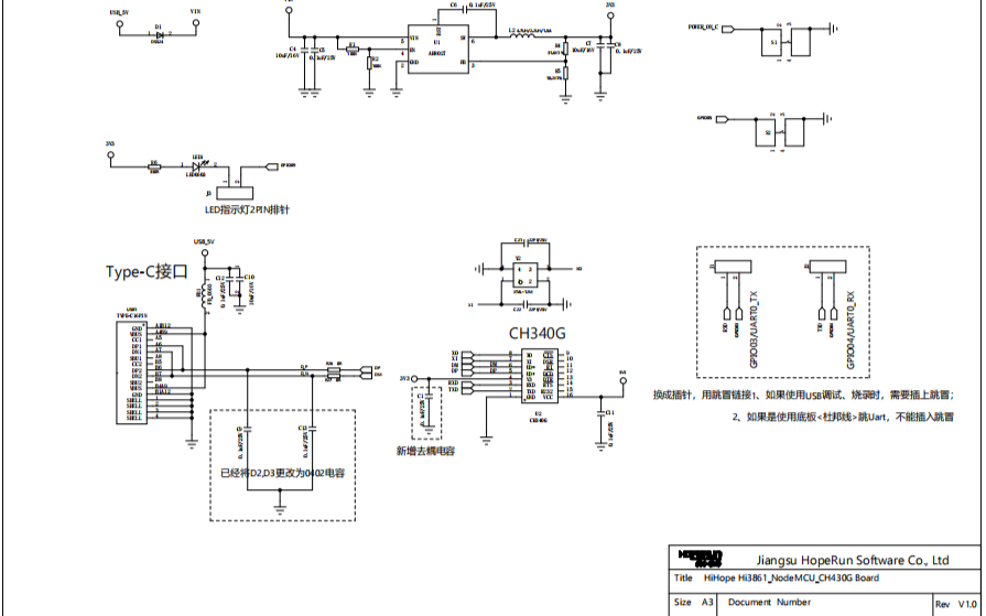 HiSpark_WiFi_IoT智能开发原理图硬件资料