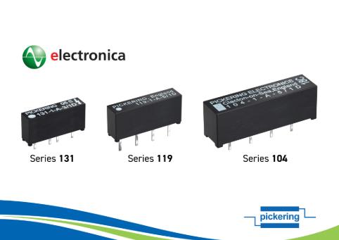 Pickering Electronics公司将在慕尼黑华南电子展上展出  微型高压单列直插舌簧继电器