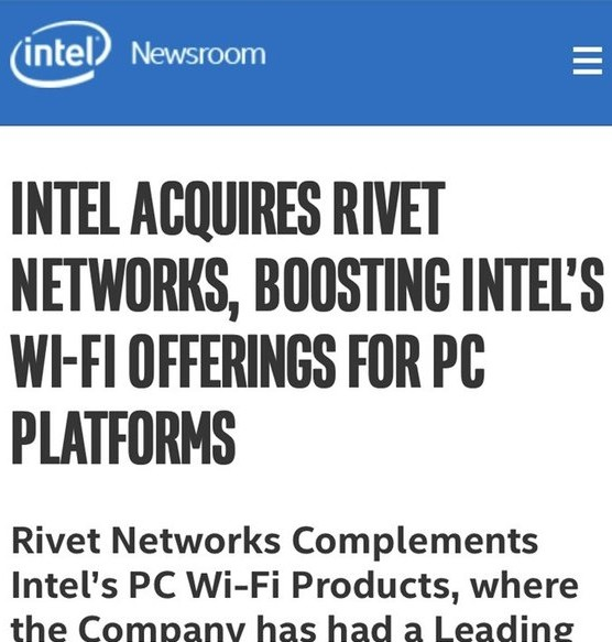 英特尔利用以太网和Wi-Fi的组合来优先处理两个连接上的流量?