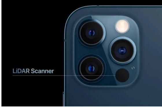 iPhone 12 Pro和Pro Max上均搭载单价高达数十美金一颗LiDAR镜头