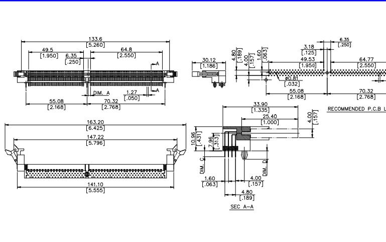 DDR 184pin卧式插板的数据手册免费下载