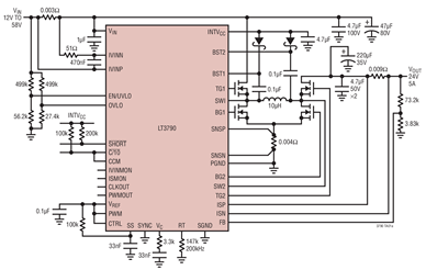Linear的DC/DC控制器LT3790的性能特點及作用分析