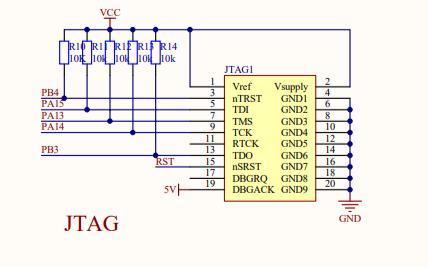 STM32F103ZET6微控制器的电路原理图免费下载