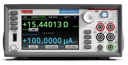 吉時利源表2400系列的功能特點和面板信息分析