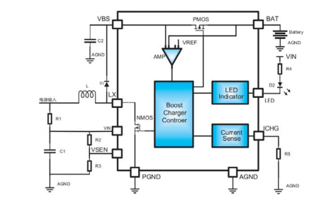 HE4484E双节锂电池串联升压充电管理芯片的数据手册免费下载
