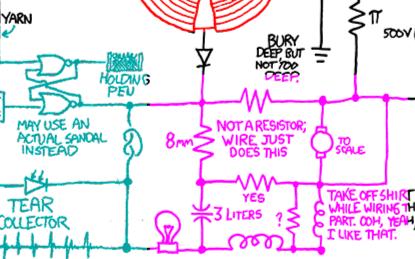 这样的趣味电路图,你见过吗