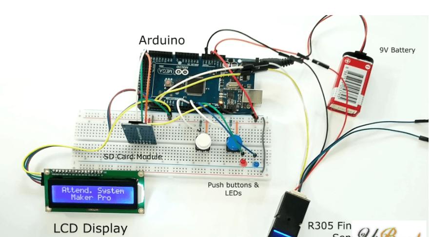 基于Arduino開發板、指紋傳感器的考勤管理系統