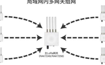 利用LoRaWAN网关内置的Server来组网的...