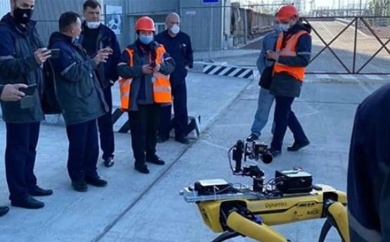 切尔诺贝利核电站竟出现一只机械狗探索