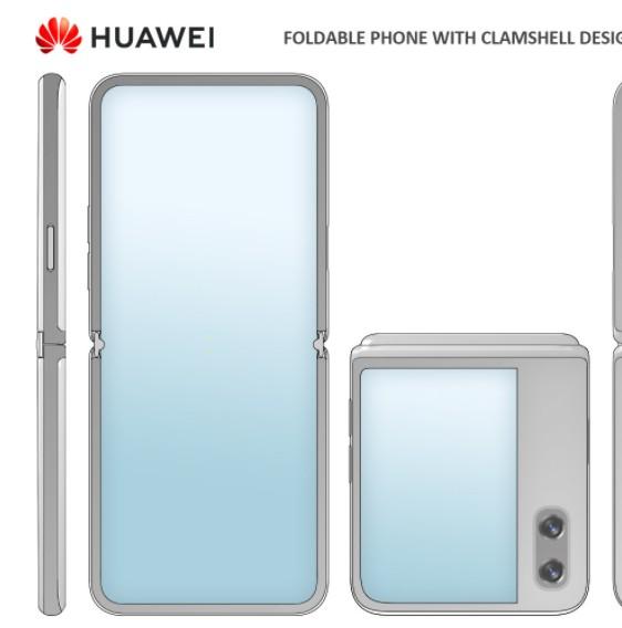 华为预示正在开发一款相对便宜的上下折合翻盖的手机