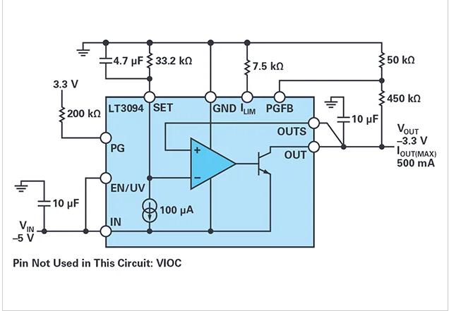 用于噪声敏感应用的负线性稳压器