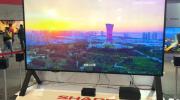 富士康全新夏普120英寸8K巨幕电视机亮相AWE博览会