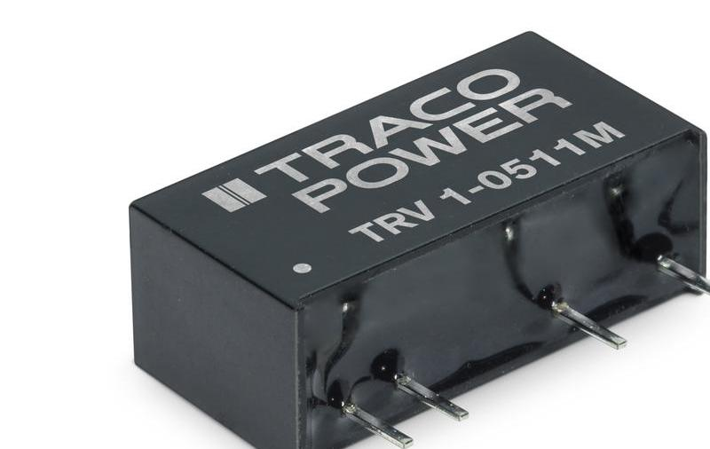 TRV 1M-醫療工業用高隔離 1 瓦 DC/DC 轉換器