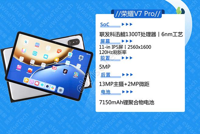 E拆解:打开荣耀V7 Pro平板,发现国产芯片不仅在手机中