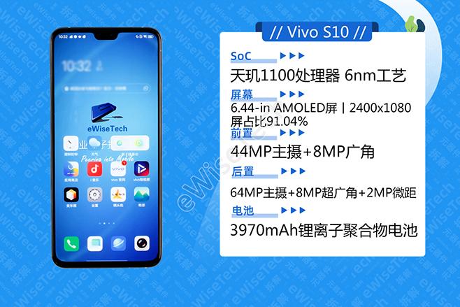 E拆解:双前摄,还有轻薄手感,Vivo S10有什么配置?