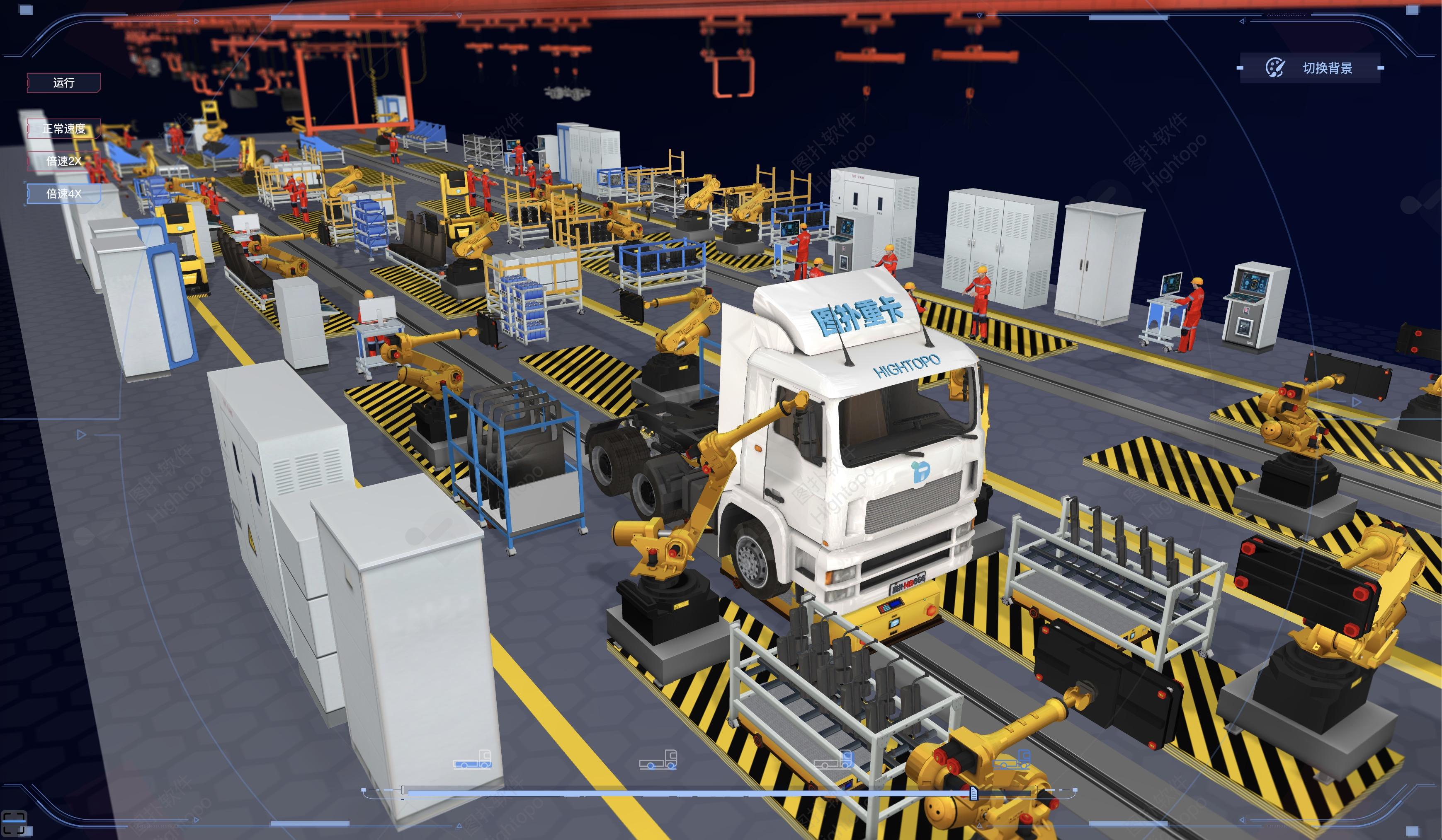 工厂装配线3D可视化看板,可大大提升工作效率