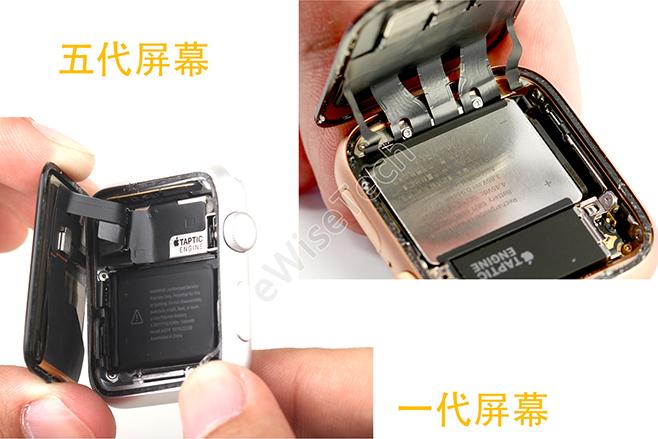 Apple Watch手表拆解對比評測 第一代到第五代Apple Watch都有特別的地方