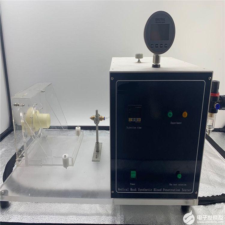口罩合成血液穿透测试仪的试验步骤详解