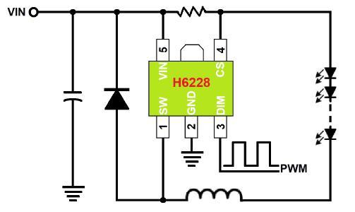 LED降压恒流芯片介绍  H6228E舞台灯共阳极调光驱动方案