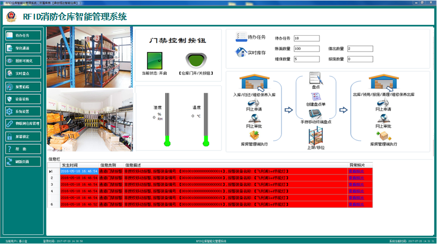 RFID消防仓库智能化管理系统的特点是什么