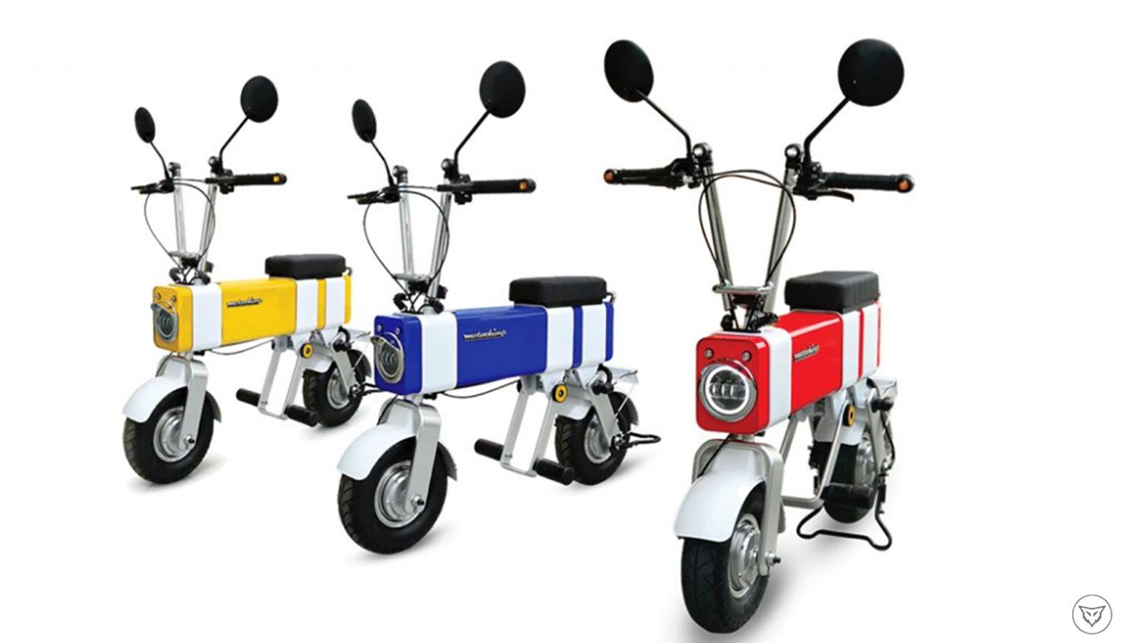 电单车中的色彩运用给人以新潮的视觉感受