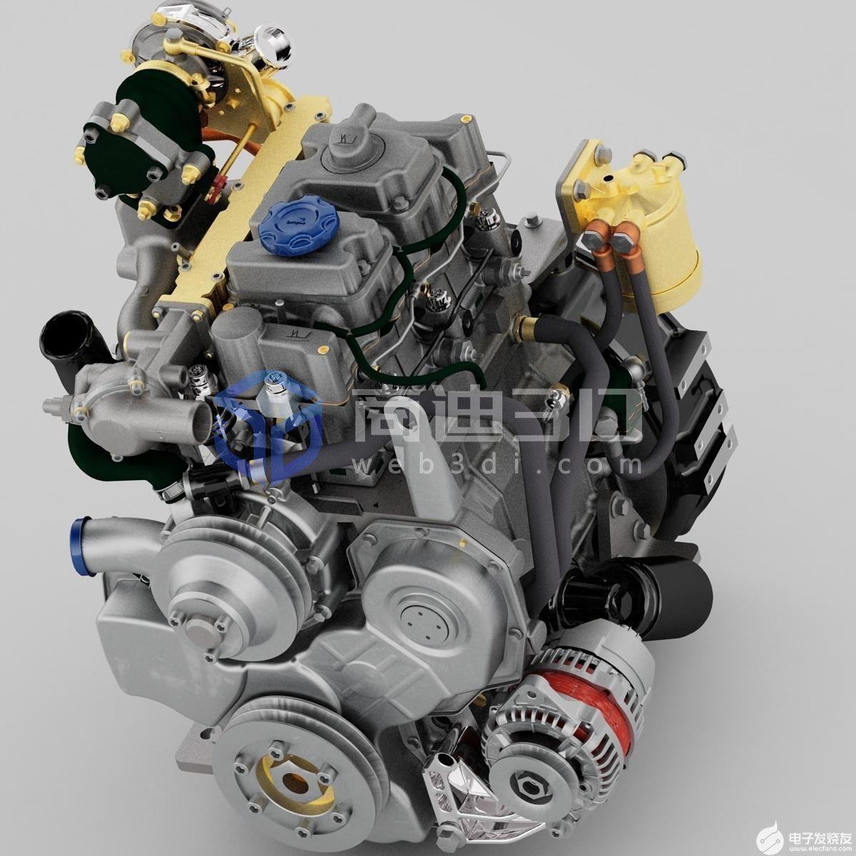 发动机3D可视化模型展示的应用及其特性介绍