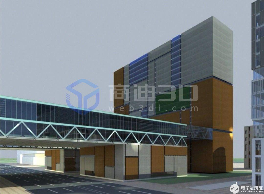 3D园区数据可视化建筑三维模型大屏的展示