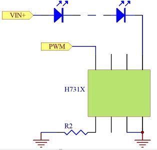 線性恒流LED閃光警示燈專用驅動芯片H7310特性介紹