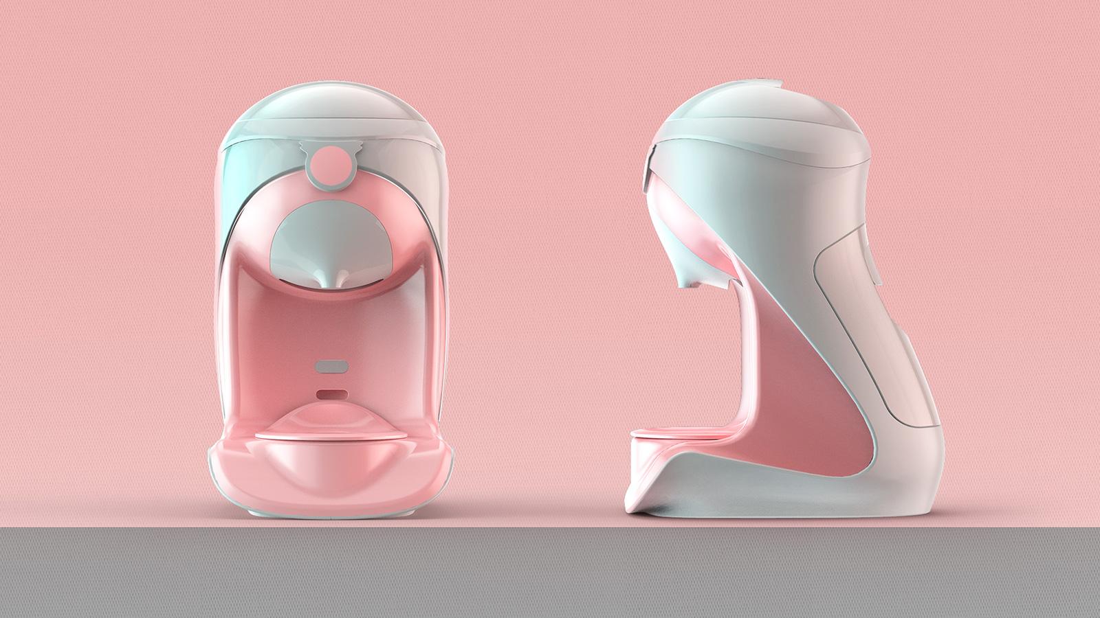 泡奶機的封閉式旋轉門設計,可實現智能水循環