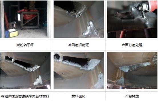 煤粉转子称冲刷磨损风蚀该用什么材料进行修复