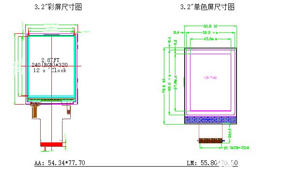 3.2寸单色屏完美替代3.2寸彩屏选型