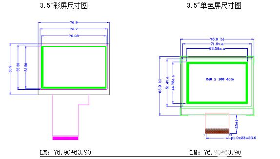 3.5寸单色屏可替代3.5寸TFT屏选型