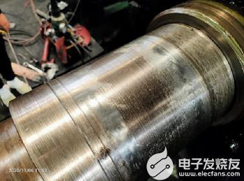 冷轧飞剪皮带轮轴径磨损如何修复