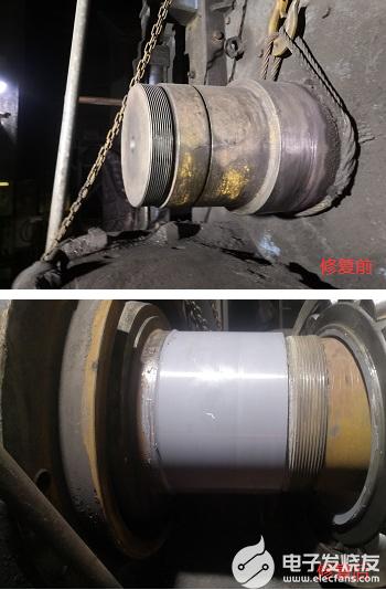 可逆式细碎机轴径磨损修复步骤介绍