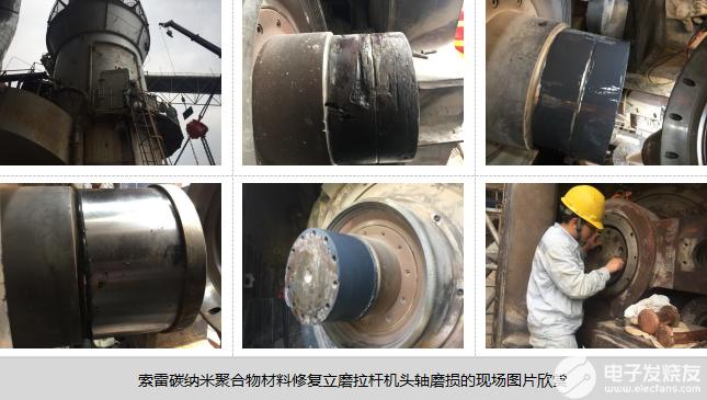 立磨拉桿機頭軸磨損的修復方法