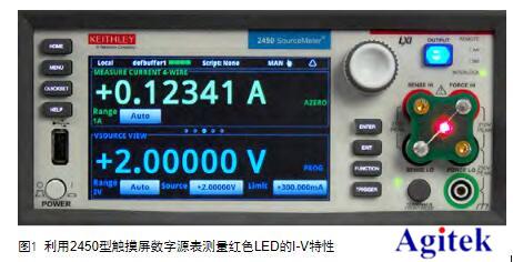 利用吉時利源表2450實現二極管I-V特性分析