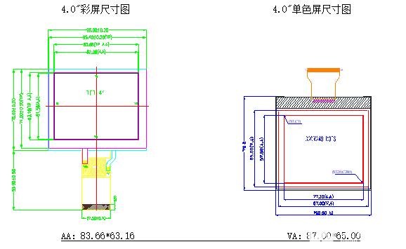 实现4.0寸单色LCD液晶屏替代4.0寸TFT屏...