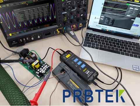 测量电感、变压器的饱和电流的方法-电流探头