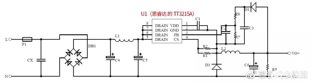 思睿达高效15W小家电待机电源方案解析