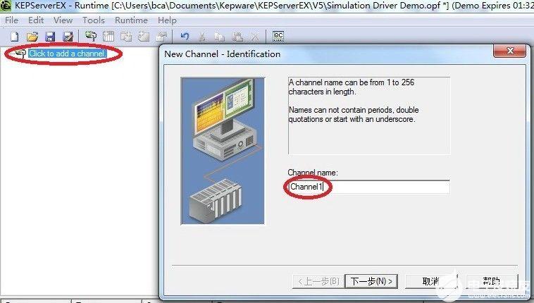 三菱YC8000-FX转以太网模块连接Kepwa...
