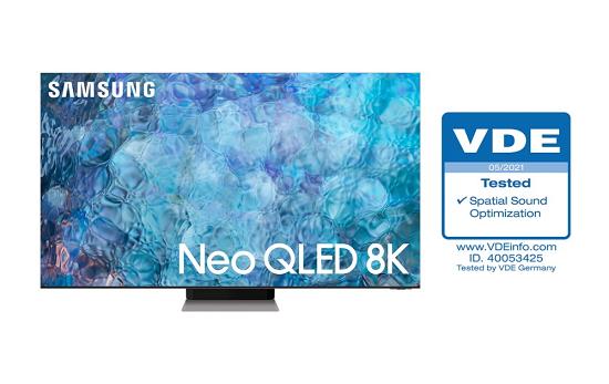 打造量聲定制的觀影體驗!三星Neo QLED獲得VDE空間聲音優化認證