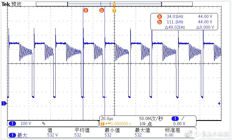 CR6267SH+CR3006 264V/50HZ MOS波形