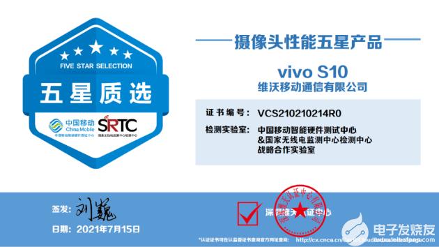 """影像系统实力超群:vivo S10系列获""""五星摄像头性能""""认证"""