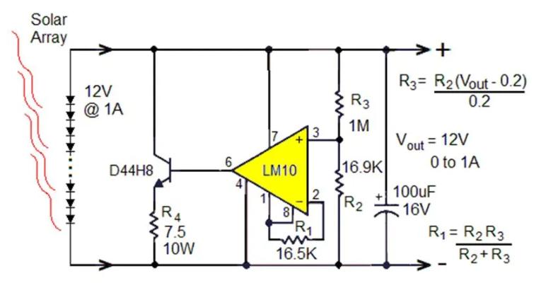 小型太陽能光伏電源的串聯與并聯線性穩壓