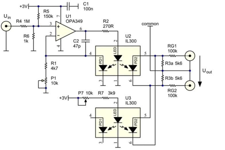用于测试仪表放大器的差分光隔离驱动器