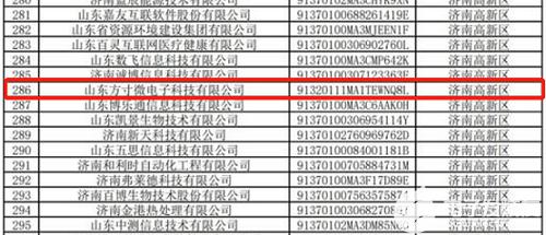 方寸微电子入选2021年度济南市瞪羚企业名单